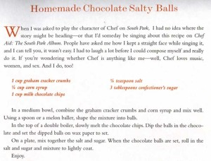 Chocolate Salty Balls recipe